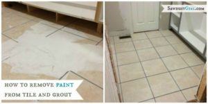 Back to square 1:  How to remove paint from grout and tile