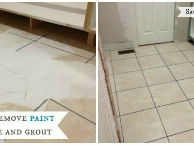 How to remove paint from grout and tile