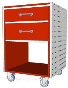 Build it:  Rolling Storage Cabinet – free plans