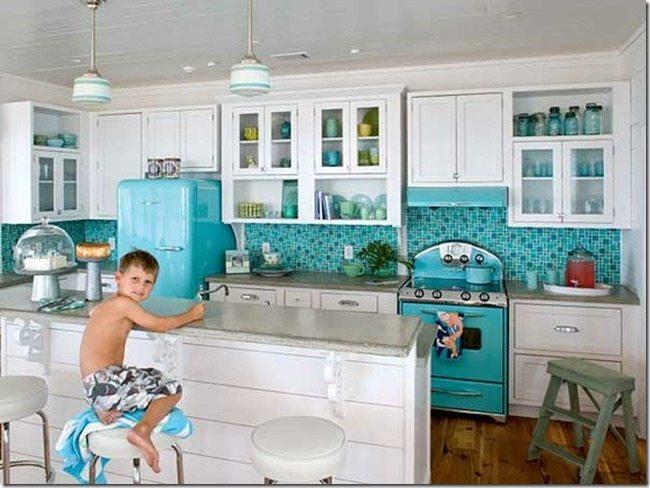Alternatives to stainless steel appliances sawdust girl - Teal kitchen appliances ...