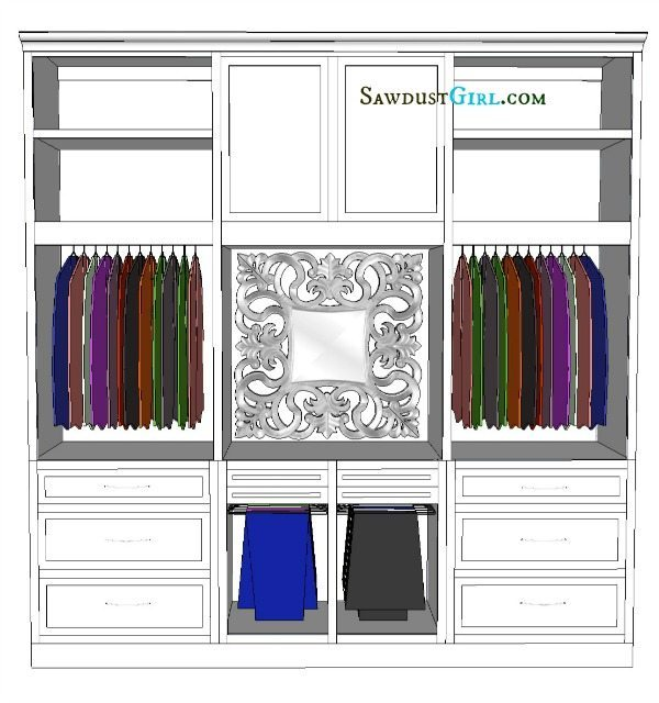 Ava's closet design (Wall 1)