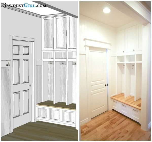A Perfectly Organized Mudroom Just A Girl And Her Blog: Built-in Mudroom Lockers