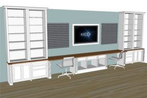 Built-in Office Plans for Cara