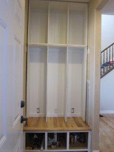 Mudroom Locker Storage Built-ins – part 3