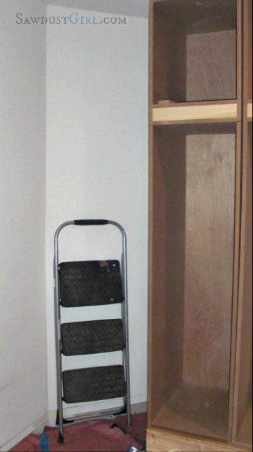 Built in closet 3 progress