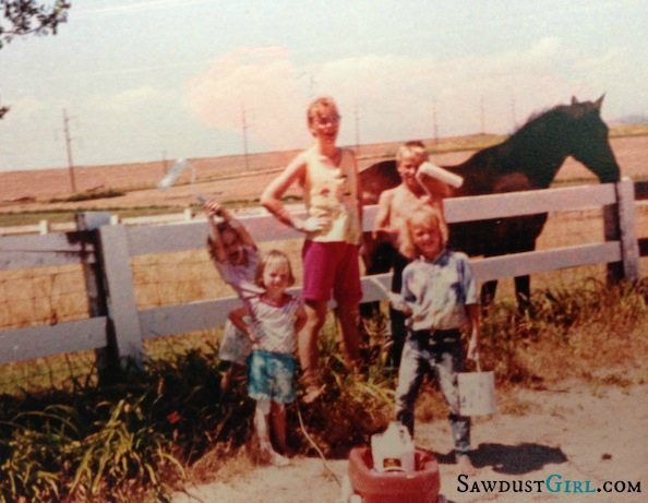 Growing up on the farm @SawdustGirl.com
