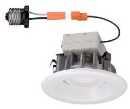 LED lights with integrated trim