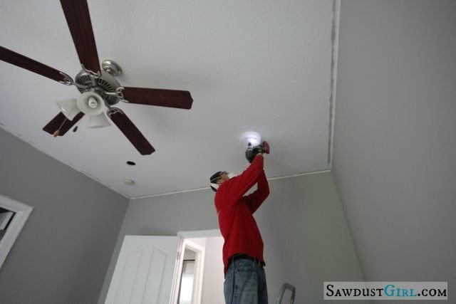 installing office lights
