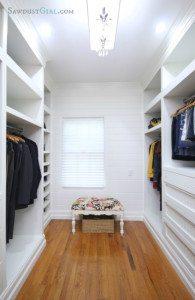 Master Closet Plank Wall