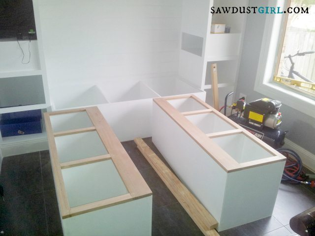 building built-in bedroom storage - SawdustGirl.com