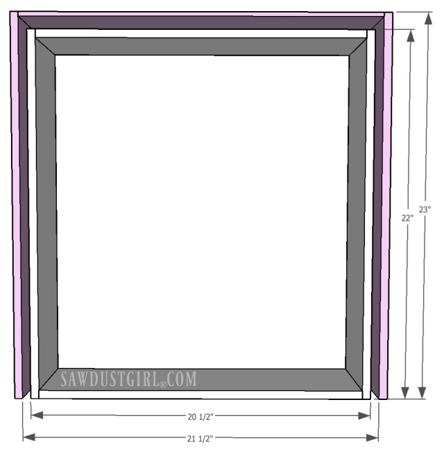 Drawer sizing in cabinet