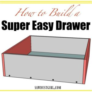 How to Build a Cabinet Drawer the Easiest Way Possible