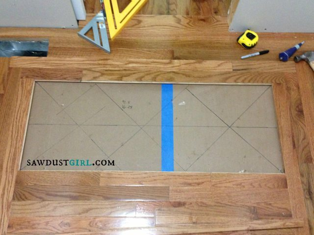 Installing patterened wood floors - SawdustGirl.com