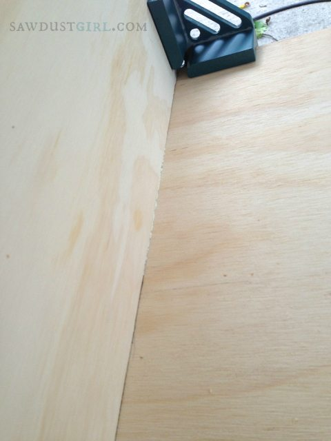 Using just the right amount of glue when building cabinets