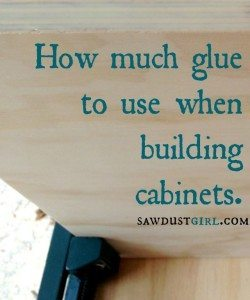How much glue is enough?