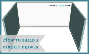 How to build a cabinet drawer
