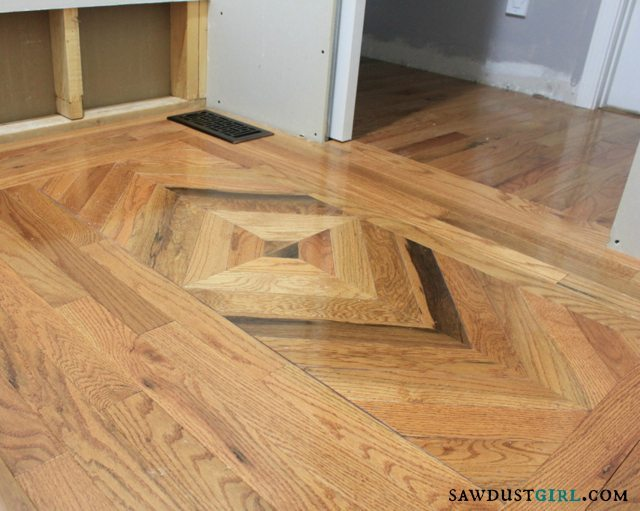 patterned wood floors - SawdustGirl.com