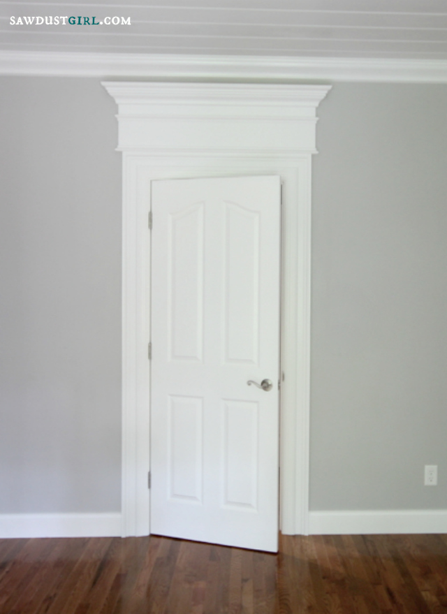 Door and window trim molding with a decorative header for Door moulding