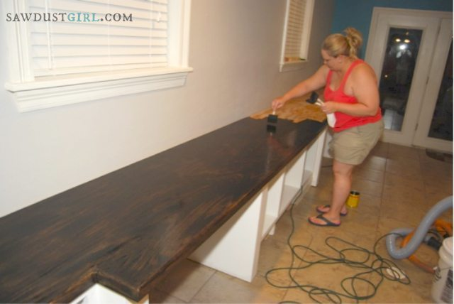 Plywood countertops - oak