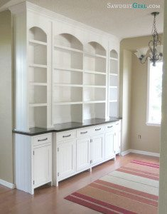 Dining room built-in buffet reveal