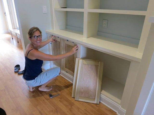 built-in cabinet doors
