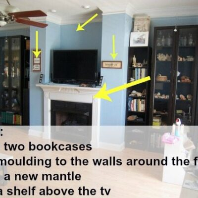 Fireplace Wall Built-ins-Courtney 1
