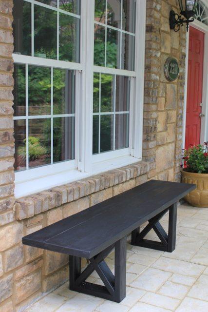 $20 X Leg Bench Woodworking Plans