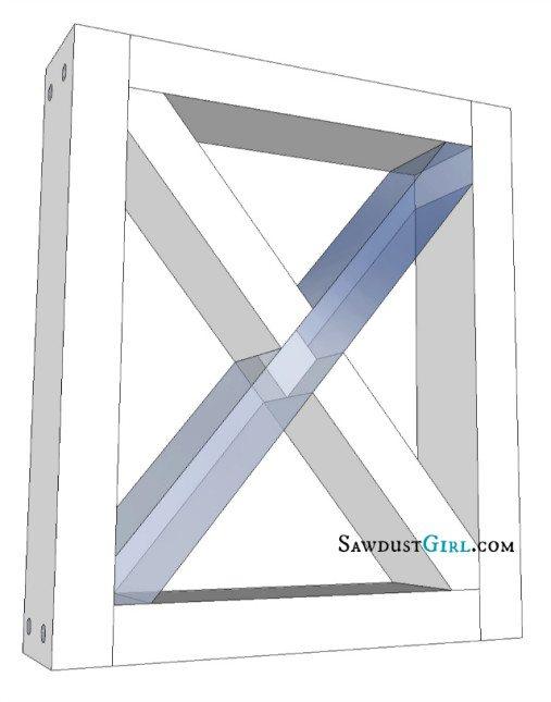 X leg bench plans at SawdustGirl.com