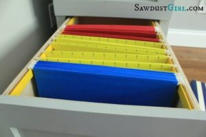 How to build a hanging file drawer