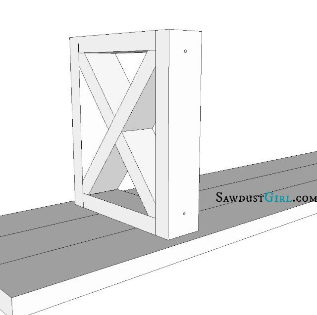 X Leg Bench Plans @Sawdust Girl