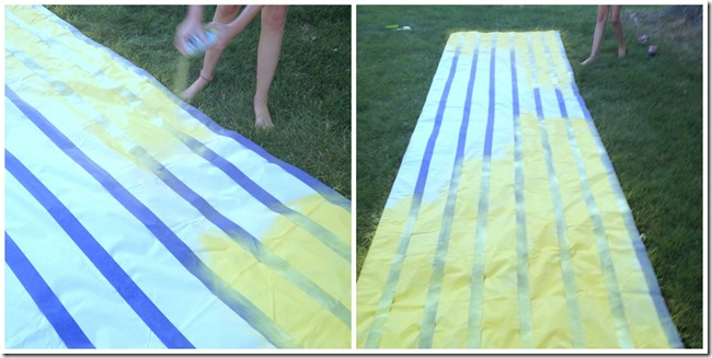outdoor fabric paint on lemonade stand canopy