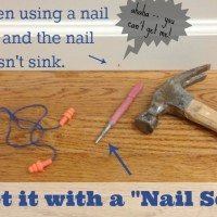 sink stubborn nails with a nail set