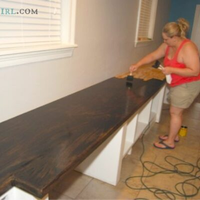 Oak Plywood Countertops – Cara's Office – 6