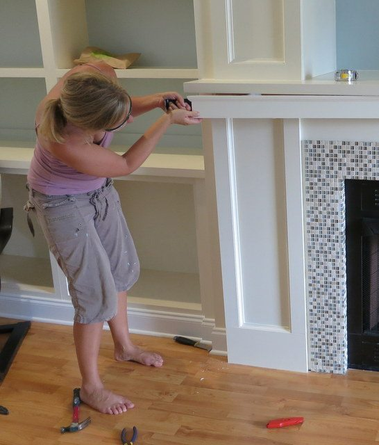 fireplace wall built-ins