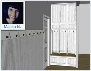 Malisa's Mudroom Design- part 1