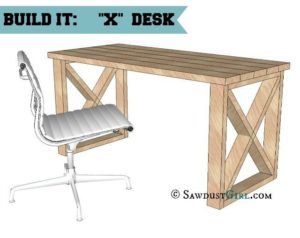 X leg Office Desk