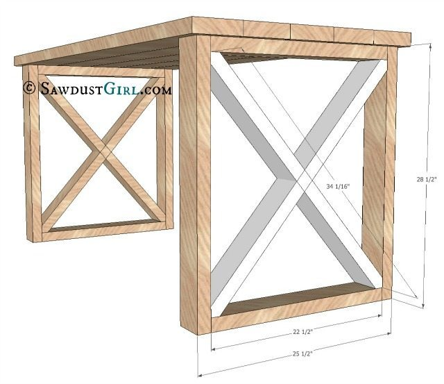 X leg Office Desk - Sawdust Girl®