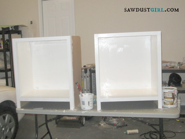 painted base cabinets