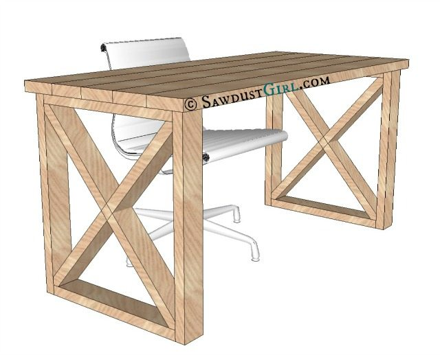 office desk construction plans