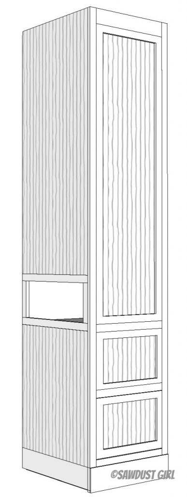 Bedroom Tower Cabinet
