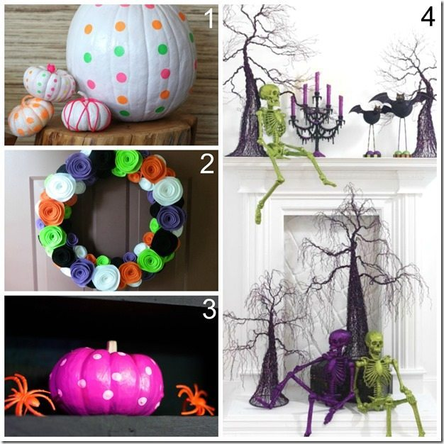 Trendy Decor for halloween_neon pop of color