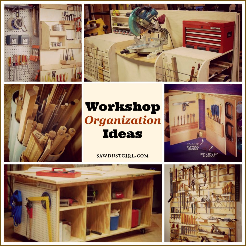 Workshop organization ideas sawdust girl - Small workshop storage ideas ...