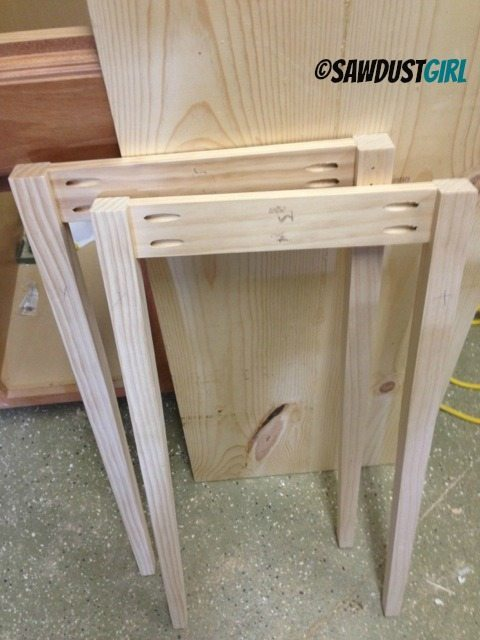Furniture Legs Diy diy console table - sawdust girl®