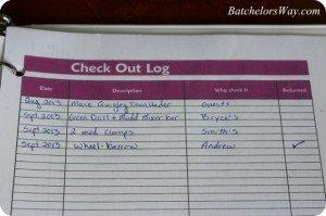 Tool check out log