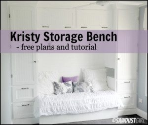 Kristy Storage Bench – free plans
