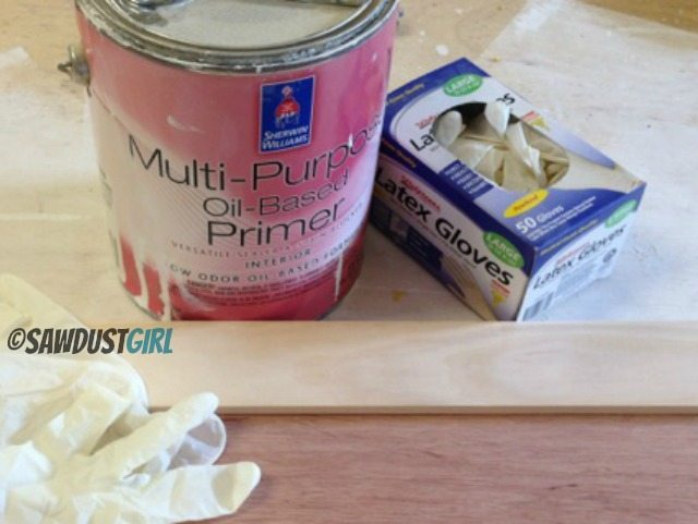 painting with oil based paint or primer