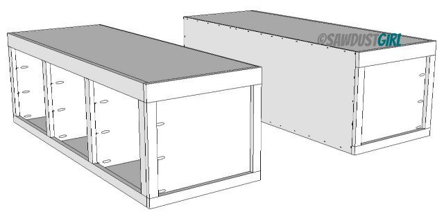 Plans To Build A Queen Size Platform Bed With Drawers