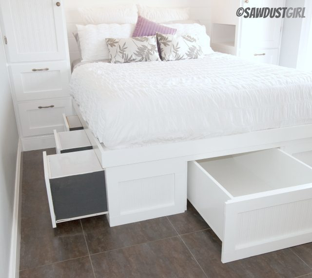 Built In Platform Storage Bed