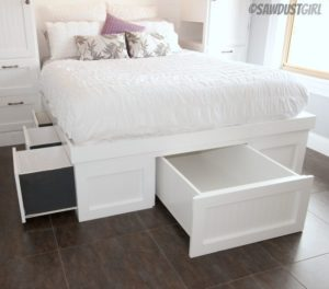 Built In Wardrobes And Platform Storage Bed
