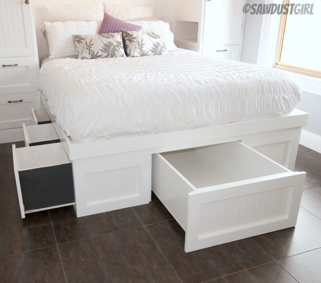 Built In Wardrobes And Platform Storage Bed Sawdustgirl Com